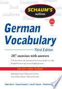 Schaum's Outline of German Vocabulary, 3ed; Edda Weiss,Conrad Schmitt,Lois Feuerle,C ; 2009